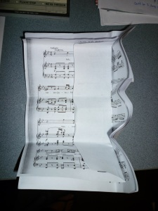 Crunkled Sheet Music